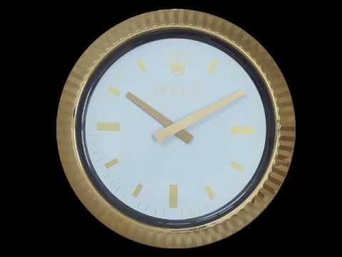 Rolex Wall Clock (Gold)