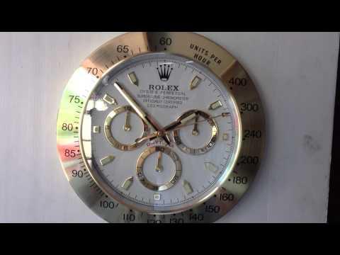 ROLEX DAYTONA GOLD SHOWROOM DISPLAY WALL CLOCK