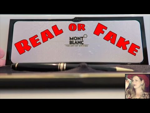 How to Tell if a Montblanc Pen is Real or Fake?  Authenticating a Mont Blanc Ballpoint Pen